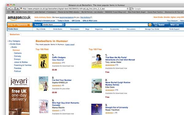 Humor bestseller list