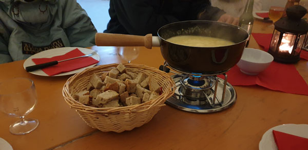 Massive cheese fondue!